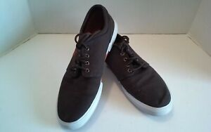 Polo Ralph Lauren Mens Faxon Low Canvas Shoes Dark Brown Sneakers Boat 10.5 D