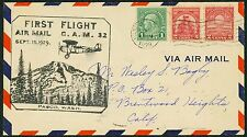 1929 FIRST FLIGHT PASCO, WA TO BRENTWOOD HTS, CA -  NICE FRANKING (ESP#1135)