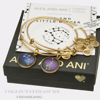 Authentic Alex & Ani Big and Little Dipper Set of 2 Rafaelian Gold Charm Bangle
