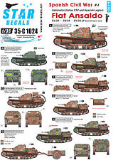 Star Decals 1/35 Spanish Civil War4 Fiat Ansaldo CV33.35 Lf Flamethrower 35c1024
