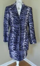 Georgiou studio dress suit blazer skirt women's 10 purple tiger print sexy