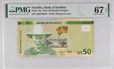 NAMIBIA 50 DOLLARS 2012 P 13 a SUPERB GEM UNC PMG 67 EPQ