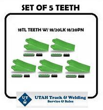 18TL (5) Pack Old Esco Style 5 Bucket Teeth W/ 18/20LK-18/20PN