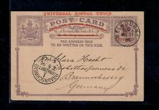 Australia / Victoria 1896 Superb Postal Stationary Card to Germany