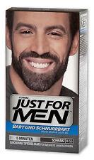 Just per uomini Spazzola cura-In-Colore-Gel (Gel Bart) Nero Barba e baffi