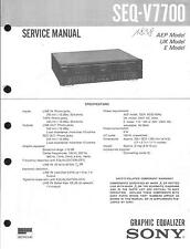 Sony  Original Service Manual für SEQ-V 7700