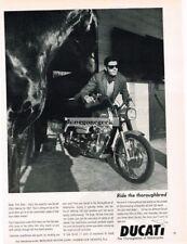 1967 DUCATI 350cc SEBRING Motorcycle Vtg Print Ad Thoroughbred Horse
