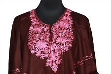 Donate Blind Cat Rescue - Poncho with Kashmiri Floral Crewel Hand Embroidery