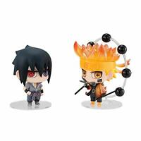 NEW MegaHouse Chimi Mega Buddy Series NARUTO Shippuden Naruto & Sasuke Figure