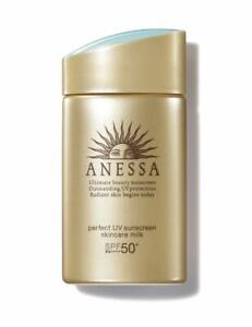 Shiseido Anessa Perfect UV Sunscreen Skincare Milk A SPF 50+ PA++++ 60 mL US