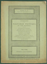 CATALOGUE SOTHEBY'S OF VALUABLE PICTURES BY OLD MASTERS - 1928 - 6 GRAVURES