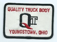 QT Quality Truck Body Youngstown OH employee patch 2-3/4 X 4 #408