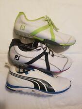 Men's Footjoy Golf Shoes M Project & Puma Faas Light .. Sizes  10.5  Lot 3 pairs
