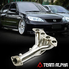 Fits 2001-2005 Honda Civic DX/LX D17{4-1 STYLE}Stainless Exhaust Manifold Header