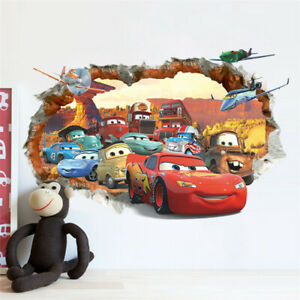 XXL Cars Auto Kinderzimmer Aufkleber McQueen Wandtattoo Wandaufkleber Sticker