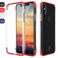 For Apple iPhone XS/X Slim Transparent Clear Shockproof Bumper Hard Cover Case