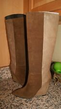 NWOB 7 FOR ALL MANKIND ORA SUEDE LEATHER WEDGE Boot BROWN 8 $375 (BO100)