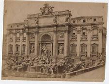 VINTAGE UNMOUNTED ALBUMEN TREVI FOUNTAIN. ROME, ITALY.