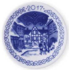ROYAL COPENHAGEN 2017 Christmas Plaquette New in Box – Hotel Kirstine in Næstved