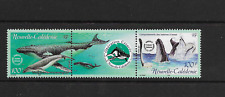 New Caledonia 2001 Whales / Marine life strip of 2 MINT lightly hinged