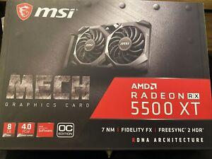 MSI Radeon RX 5500 XT MECH OC GDDR6 Graphics Card - 8GB