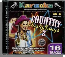 Karaoke CD+G - Country Party Songs #2 - New 2004, 16 Song Karaoke Bay CD!