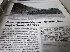 Neben - Schmalspurbahnen 14 Garmisch Partenkirchen Griesen Grenze ÖBB 16S