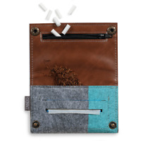 Rolling tobacco pouch/case smoking cigarette wallet/pack tip paper holder slot