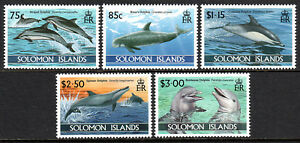 Solomon Islands 772-776, MNH. Dolphins, 1994