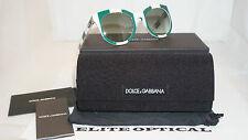 New Authentic Sunglasses Dolce & Gabbana Striped White Green/Green DG4249 30268E