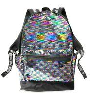 VICTORIAS SECRET PINK RAINBOW METALLIC GLITTER MINI BACKPACK SCHOOL BAG NWT