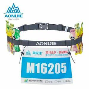 Aonijie triathlon /marathon running belt with gel holders & number holder