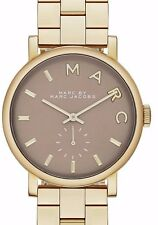 $225 NWT Marc Jacobs Women's Baker Bracelet Watch MBM3281 GOLD-GRAY