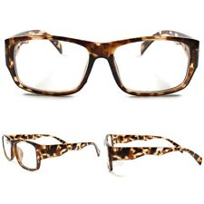 Stylish Tortoise Frame Rectangle Geek Modern Fashion Clear Lens Eye Glasses