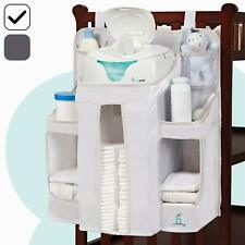 Baby Diaper Caddy Nursery Organizer Hanging Diaper Storage Crib Changing Table