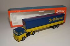 S TEKNO SCANIA 141 TELEGRAAF DE COURANT TRUCK WITH TRAILER NEAR MINT BOXED