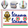 Vespa adesivi casco leone strisce italia sticker helmet leon italian flag 6 pz.