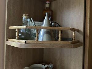 NEW SOLID OAK KITCHEN OPEN DISPLAY UNIT FINISHING TRIM STRAIGHT & ANGLED 3 PACK