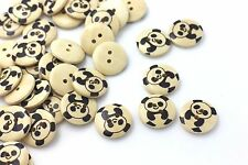 Panda Wooden Button Giant Panda Animal Coat Children Baby DIY Wood 18mm 20pcs