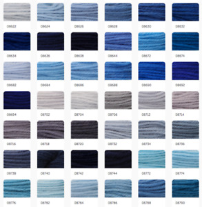 Anchor Coats Tapisserie Needlepoint Tapestry Wool - 10m Hanks Skeins 8630-8934