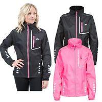 Trespass Womens Training Jacket Running Cycling Waterporof & Reflective
