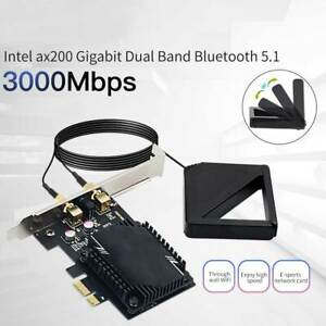 3000Mbps WiFi6 AX200 Wireless Network Card Antenna PCIE Signal Dual Frequency