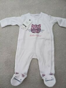 Next Baby Little Sister Babygrow Sleepsuit First Size BNWT