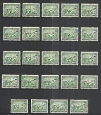 NEWFOUNDLAND SCOTT 213 MINT x 24 - 1933 2c GREEN COMPTON CASTLE ISSUE    CV $33