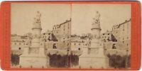 Genova Soprammobile Christoforo Colombo Italia Stereo Albumina Ca 1880