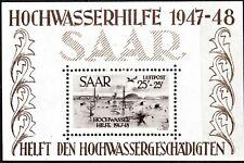 GERMANY - SAAR 1948 LUFTPOST SHEET - MINT - 2 SIGNS OF HINGE - SCAN + PIC