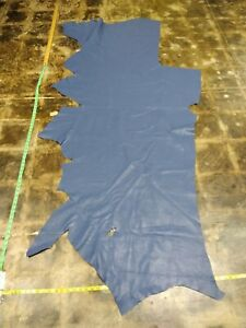 Italian Cowhide leather skin Lavender Blue 35''by65'' Inches 1.4mm 3oz