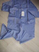 Lands end   feinster Pepita Baumwolle Schlafanzug Gr.L---blau fischgrät