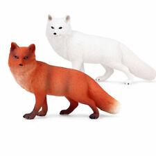 Simulation Fox Wild Animal Set Action Figures Model Educational Children Toys