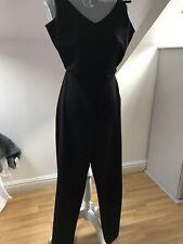 Black Wide Leg Jumpsuit zara S (8-10)
